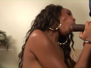 Thin nubian with tattooed chest gets split wide by big black cock