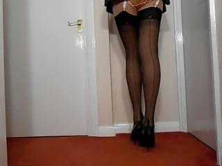Girdle Gymslip Stockings & Satin Panties