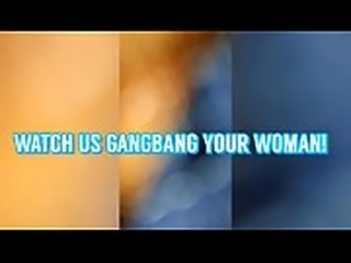 BBC GANGBANG CREW RUN A TRAIN ON HOT MILF CREAMPIE PUSSY POV AMATEUR...