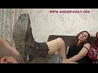 Very Dirty Boots licking. Hardore female domination