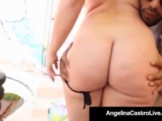 BBW Girls Angelina Castro & Virgo Peridot Get A Cum Facial!