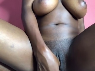 My first time fucking my dildo with anal plug in my ass hole