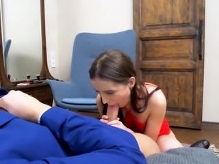 Young Courtesans - Selena - Red dress courtesan anal