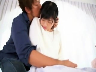 Stacked Japanese beauty braces herself for a deep pounding