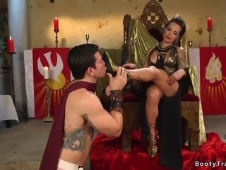 Tranny Dom Spanks and Anal Fucks Guy, 720p