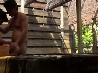 Voluptuous Japanese mom enjoying a deep doggystyle fucking