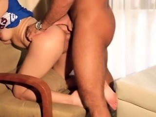 Beautiful cheerleader fucked and creampied by her stepdad