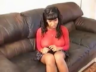 Ebony schoogirl caught smoking