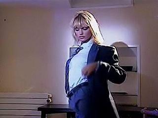 No sound: Anita Blond Sexy In Suit.