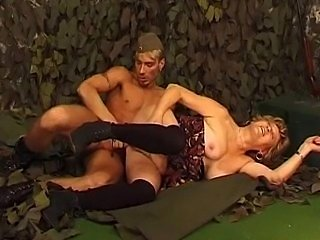 Milf with soldier