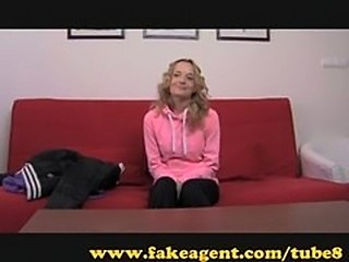 FakeAgent. Fitness chick gets sex workout.