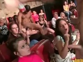 Tons of Horny Girls Sucking a Few Stripper Cocks At Once