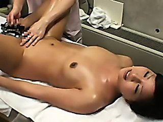 Spycam wife reluctant massage orgasm