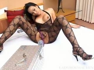 Hot ladyboy Nina and fucking machine