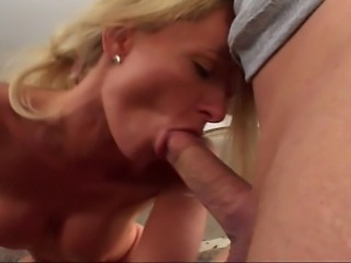 Blonde slut was surprised seeing me entering room… But nothing my friend...