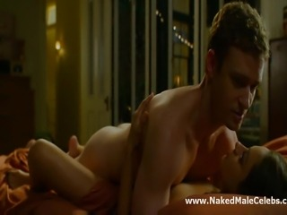 Hollywood male celebrity Justin Timberlake exposes his gorgeous bare ass and...