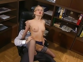 Horny executive secretary Dora Venter