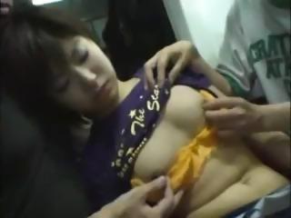 Sleeping Girl Groped  Fucked On Train