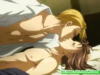 Muscular hentai gay having anal sex and love