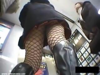 Walking girl upskirt panties