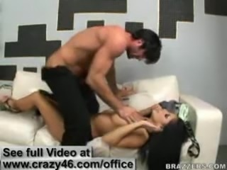 Big titted bank owner fucks her client