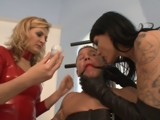 Milked and Sounded by two Mistresses