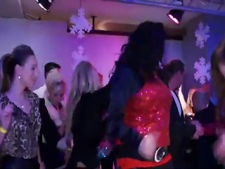 A group of European pornstars dacing party contest