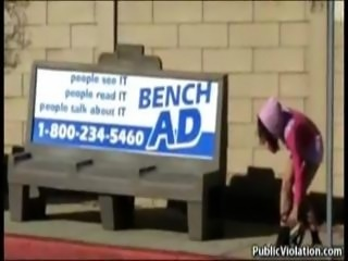Amateur girls sharked in public