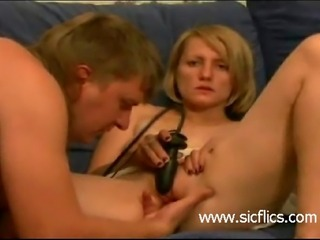 Extreme young amateur slut is brutally fist fucked in her loose vagina till...
