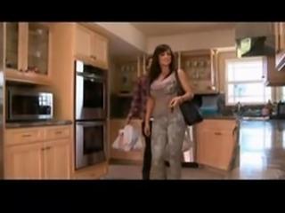 Mature mom fucks in the kitchen