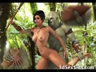 Ogres Gangbang Hot 3D Babes! free