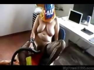 Woman Masturbates Vacuum  BBW fat bbbw sbbw bbws bbw porn plumper fluffy...