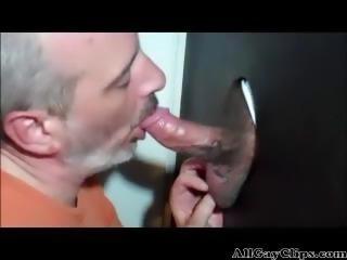 Swallowing At The Glory Hole  gay porn gays gay cumshots swallow stud hunk