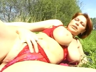 Walking alone in the park this guy meets this horny mature slut and he just...