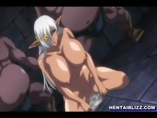 Big boobed hentai ghetto hard fucked by monster in the dungeon