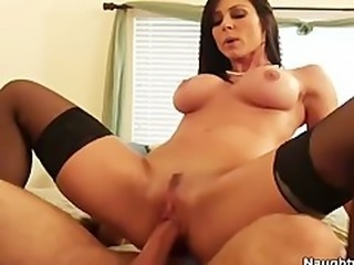 Kendra Lust is a hot milf who wear stockings fucks sons friend