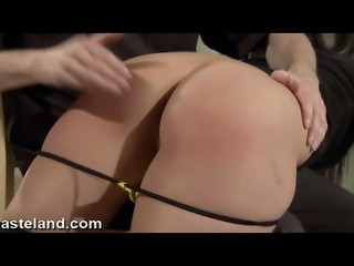 A young brunette erotic dancer goes to a Dom dance instructor for an spanking...
