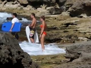 Miley Cyrus bikini video