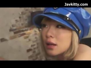 Japanese Blonde Police Girl Cosplay