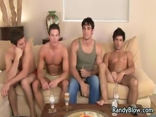 Super hot studs in gay foursome part3