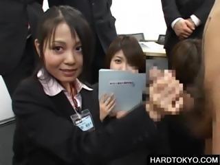 Handjob in public with asian teens