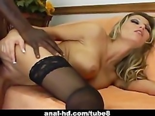 Sexy busty slut Anna Nova interracial sex