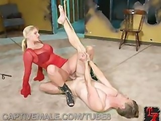 Hot MILF Makes Her Slave Squeal
