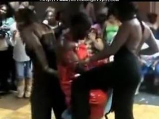 Women Enjoy Male Stripper black ebony cumshots ebony swallow interracial
