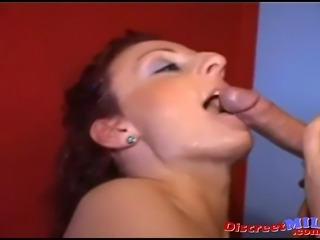 Threesome with filthy MILF and two horny guys