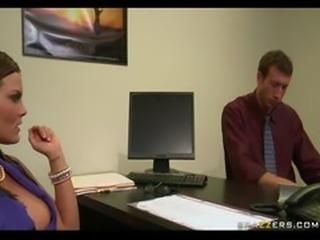 Brunette bank manager's punished after rejecting client's loan