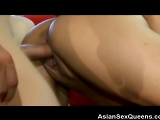 We have this lovely Asian hottie on this clip as she gets fucked hard on the...