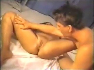 Creampie cleanup and sharing cum