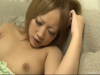 Horny as she is, Asian hottie Ai Shirosakia begins to fondle her tits and...