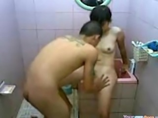 Cute Asian Teen Bathroom Quickie